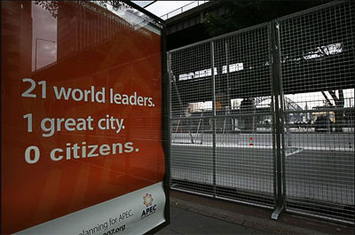 APEC Fence - Sydney Indymedia