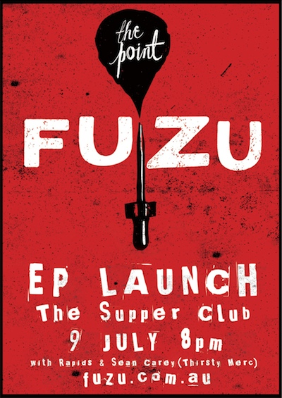 Launch gig poster (details reproduced below)