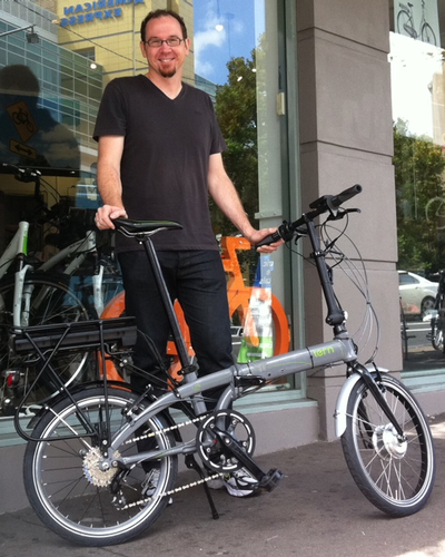 Tern P24h converted electric folding bike